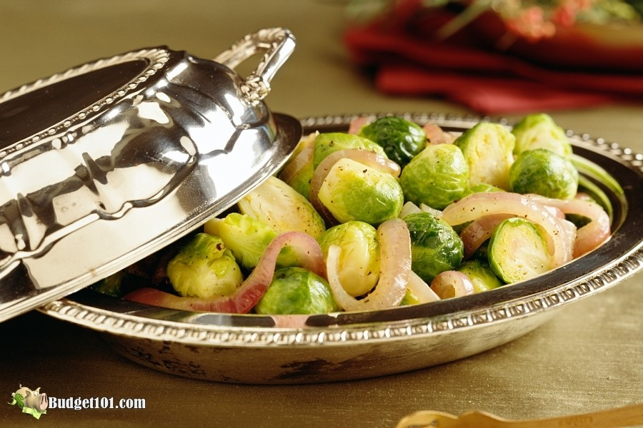 b101 sauteed brussels sprouts onions