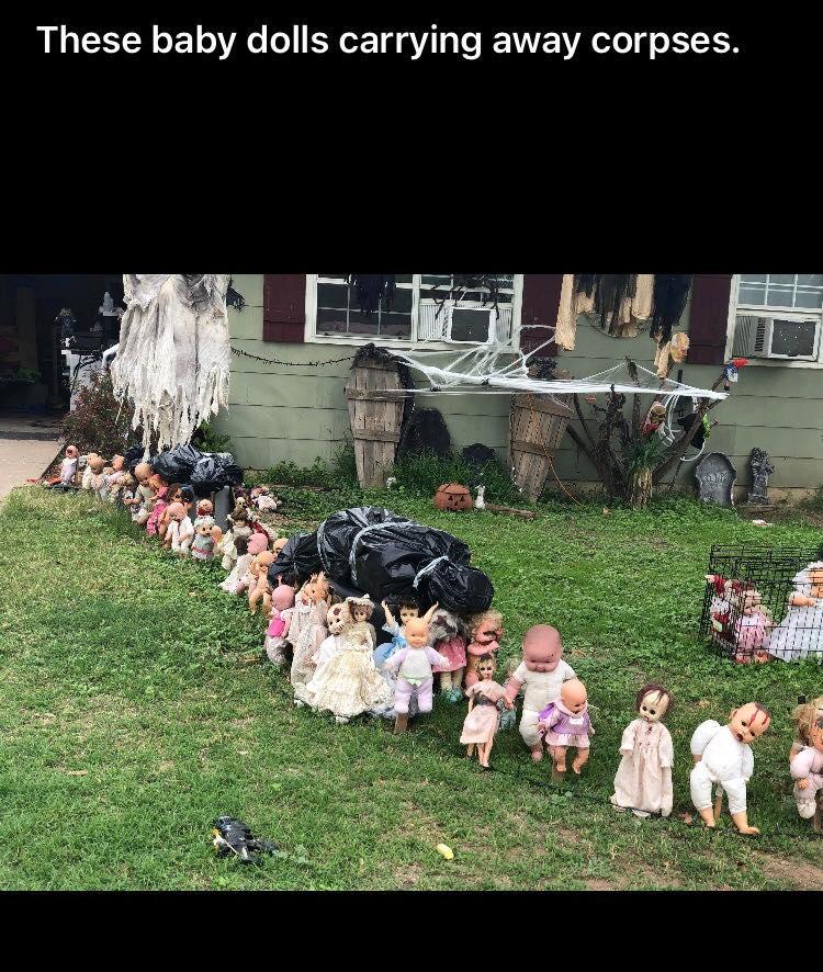 Halloween Baby Doll Corpse Decor