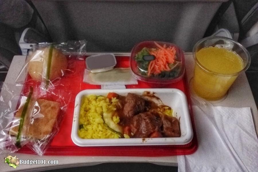 b101 airline food