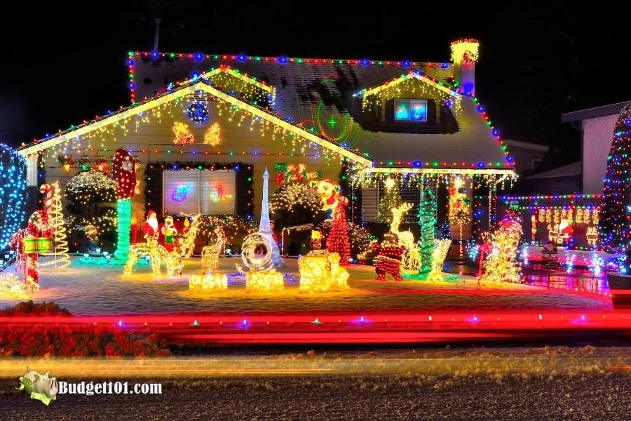 b101 christmas light display
