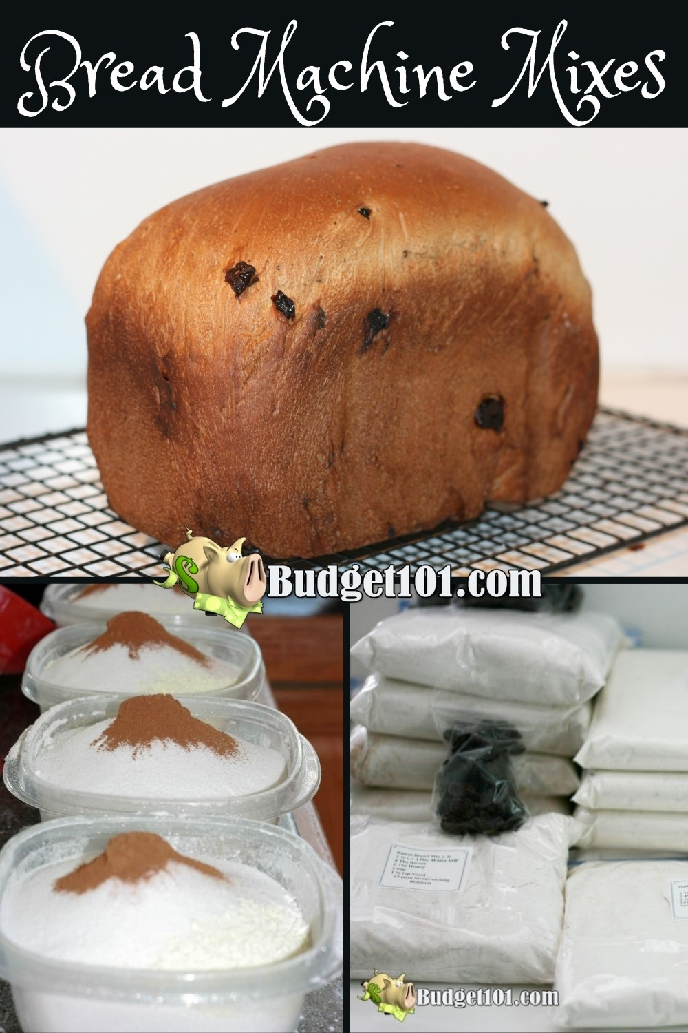 Learn how to make homemade bread machine mixes in just a few minutes for hot, fresh bread anytime! #BreadMachineMixes #Mixes #MYO #homemadeMixes #Budget101