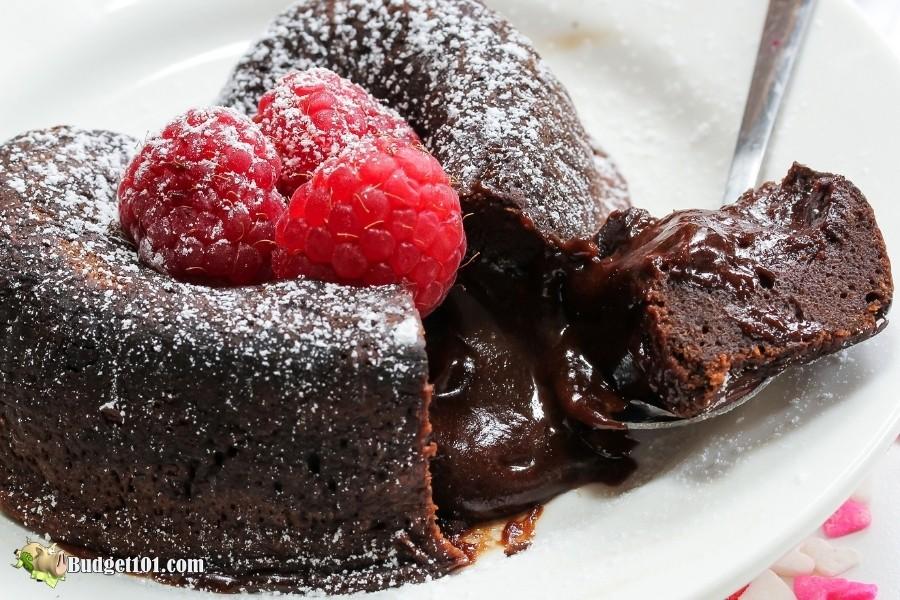 b101 raspberry lava cake