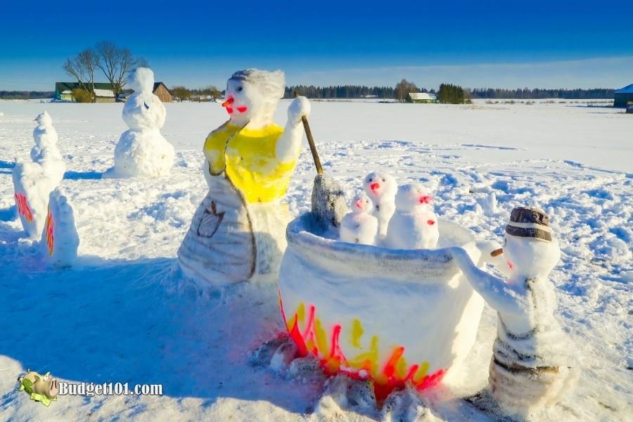 b101 snow sculpture