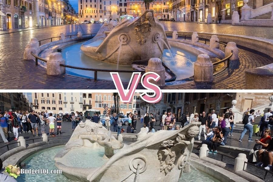 b101 travel hacking barcaccia fountain rome