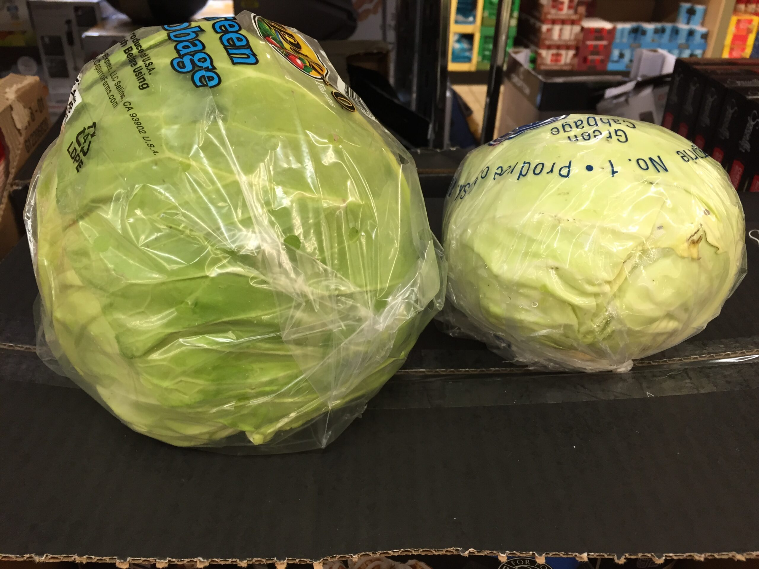 cabbage price comparison