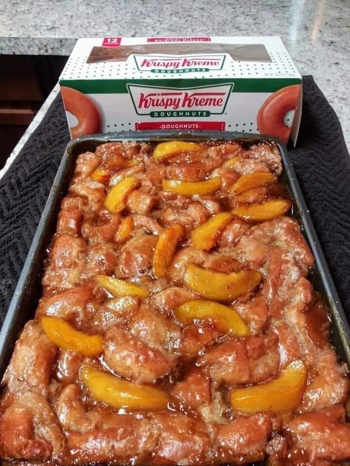 krispy kreme peach cobbler