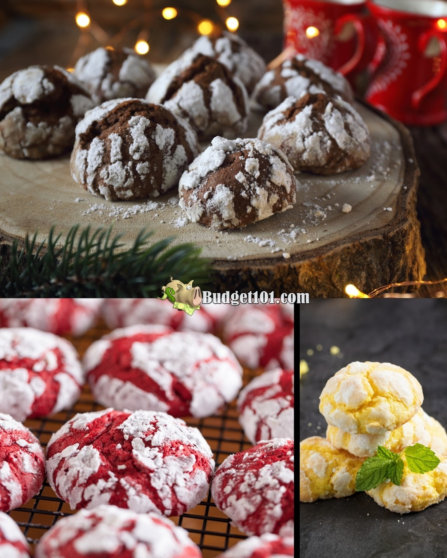 b101 crinkle cookies chocolate lemon redvelvet