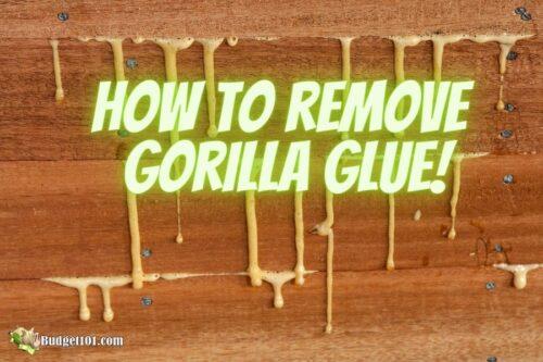 b101 remove gorilla glue from skin everything