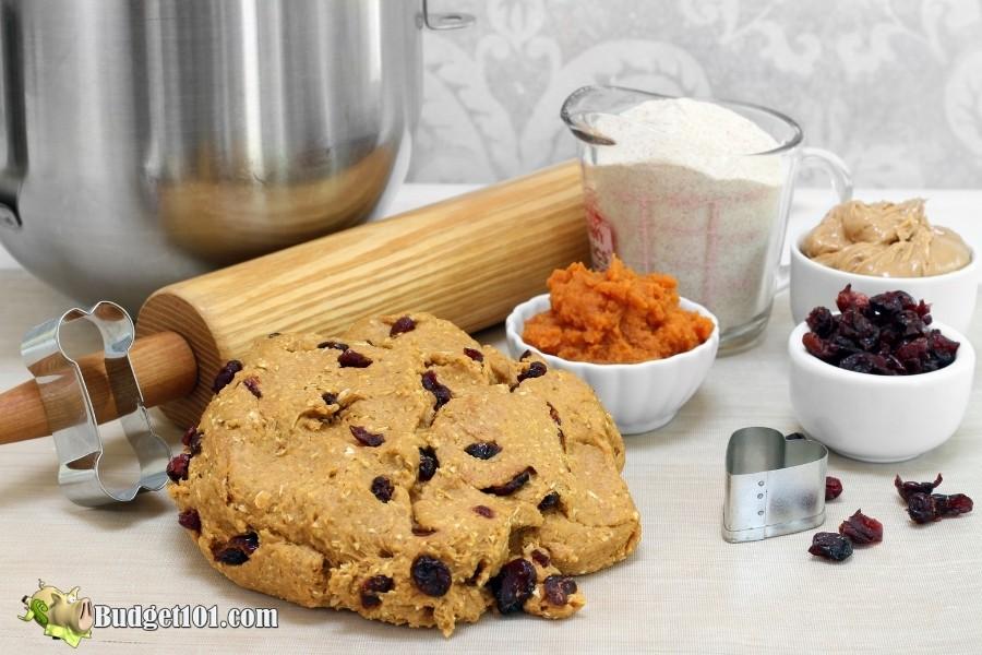 cranberry peanut butter dog treat dough budget101