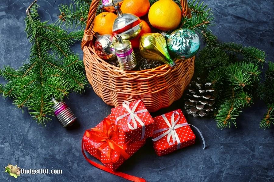 fruit basket under tree b101