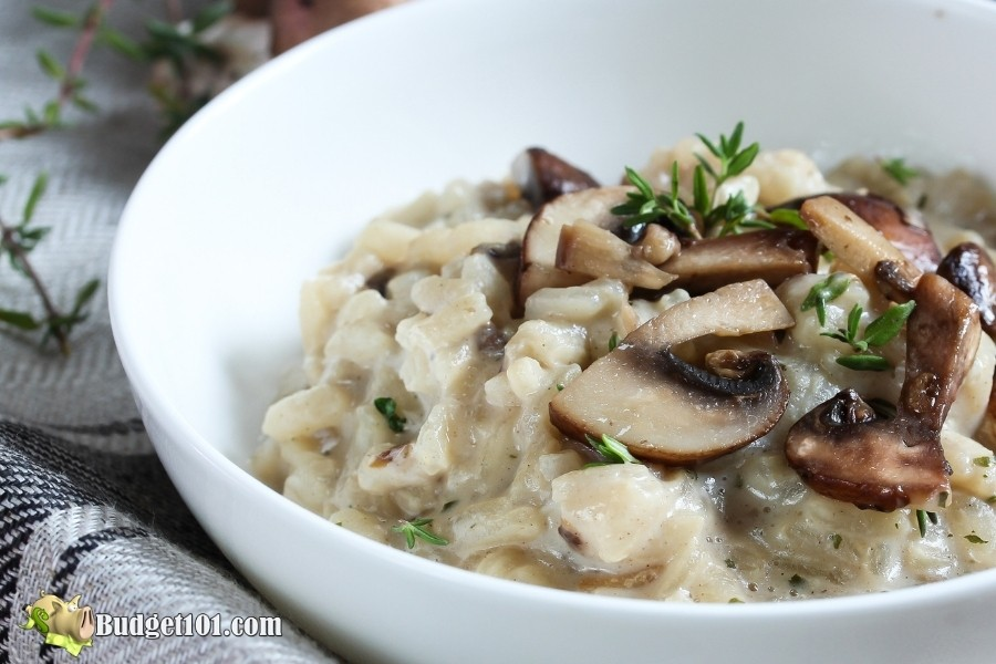 mushroom risotto budget101