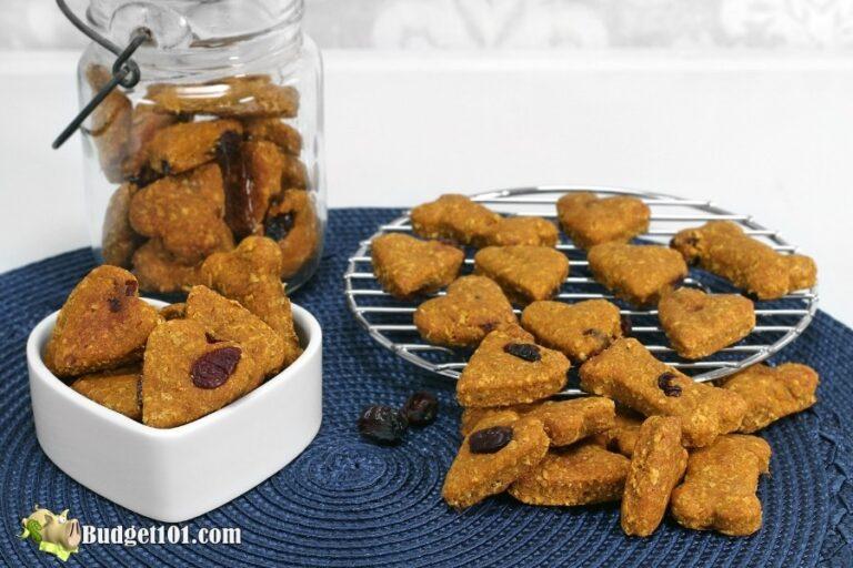 peanut butter cranberry dog treats