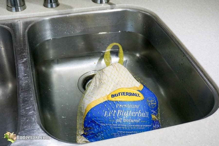 submerge frozen turkey