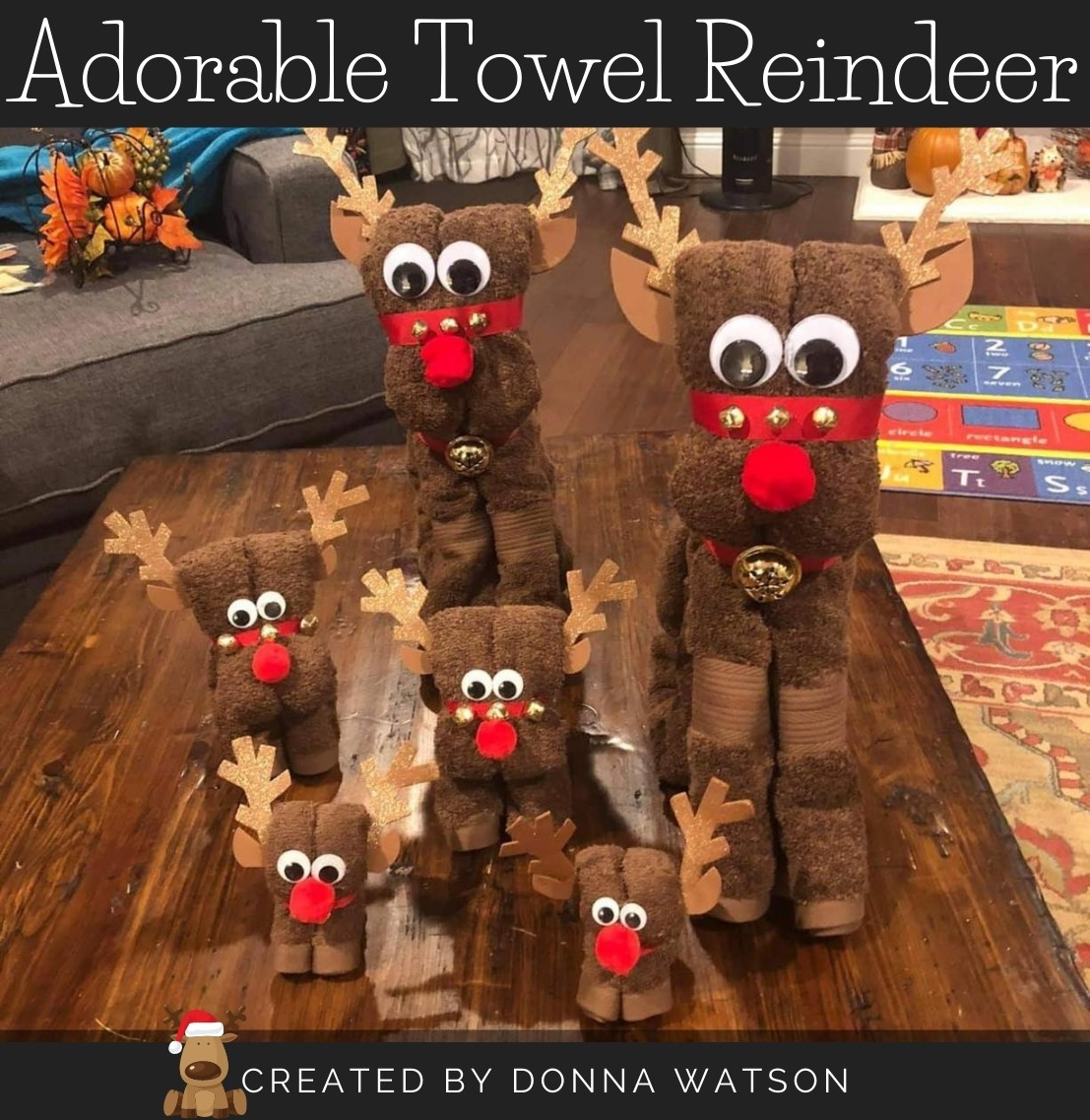 towel reindeer donna watson craft