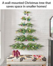 how to make a wall mounted xmas trees