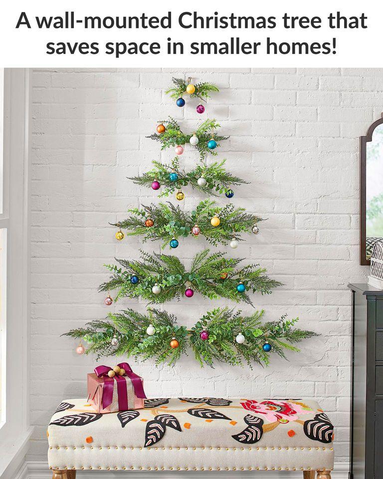 wall mounted xmas trees