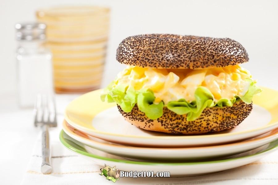 bagel egg salad sandwich