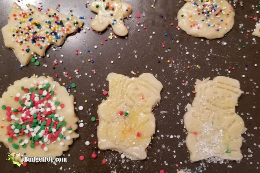 baking sugar cookies with sprinkles