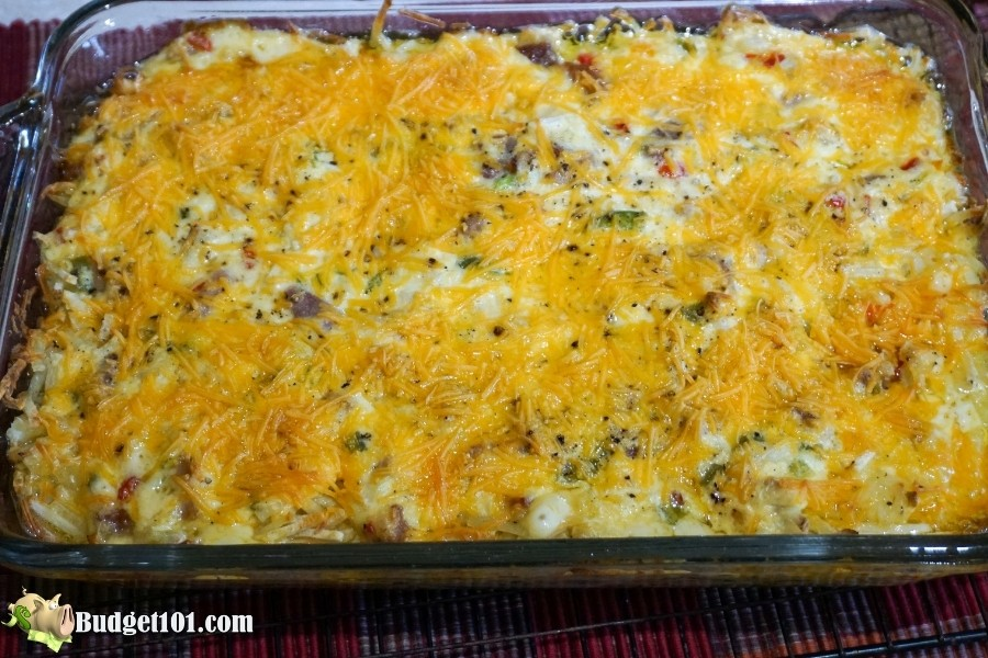 cheesy hashbrown ham casserole budget101 baked