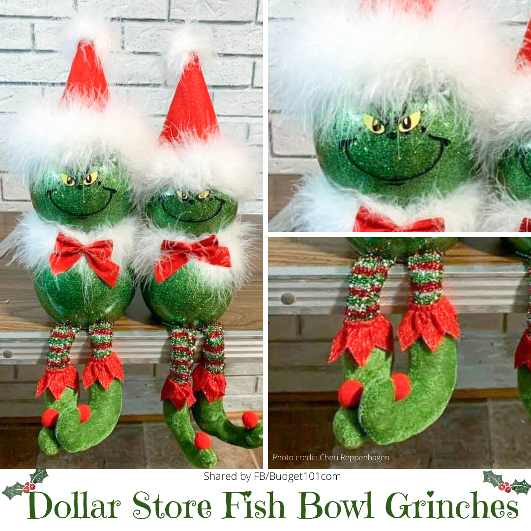 dollar store fish bowl grinches