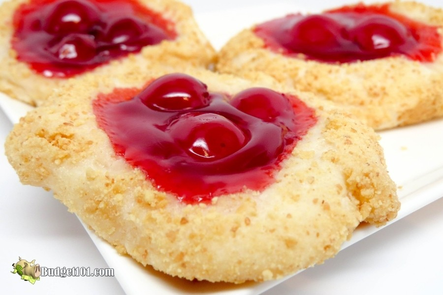 festive cherry cheesecake cookies budget101