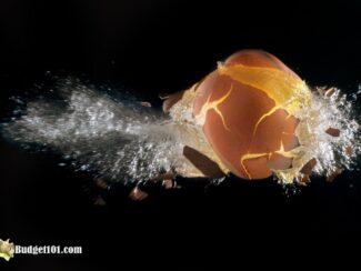 frozen egg in shell