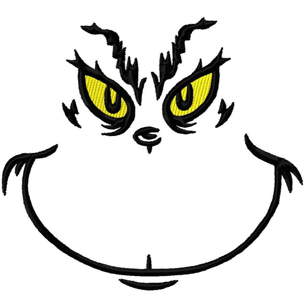 grinch face template