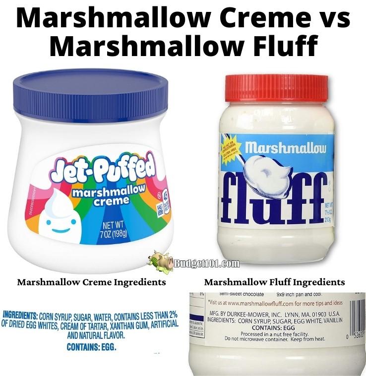 Marshmallow Creme vs Marshmallow Fluff