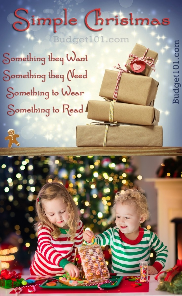 If you're tired of overwhelming holidays like we were, you'll love this easy to remember 4 rule Simple Christmas tradition! #CelebrateSimply #SimpleChristmas #StressfreeHolidays #Budget101 #Christmas #Yule