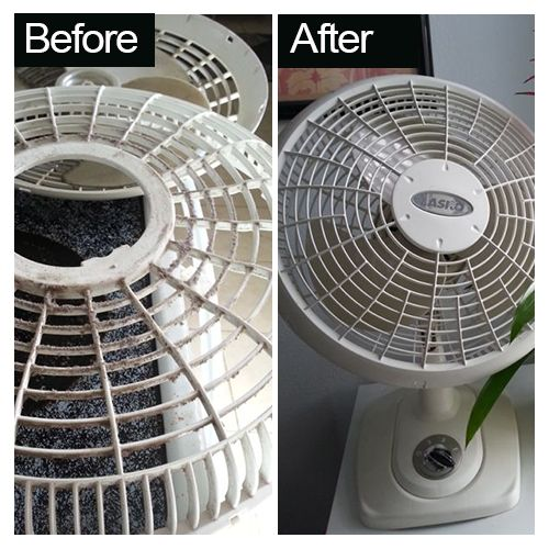 wash fans in dishwasher
