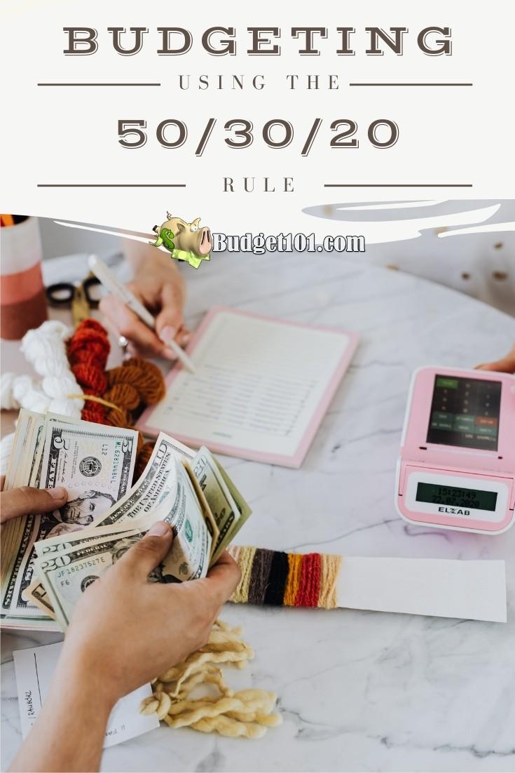 Budgeting 101: How to Budget Using the 50-30-20 Rule #Budget101 #GetoutofDebt #MoneyMatters