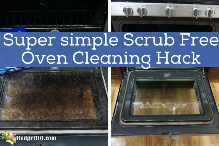 scrub free oven cleaning hack