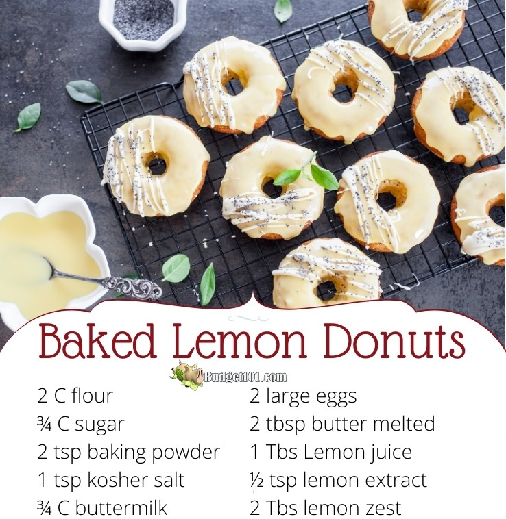 baked lemon donuts budget101