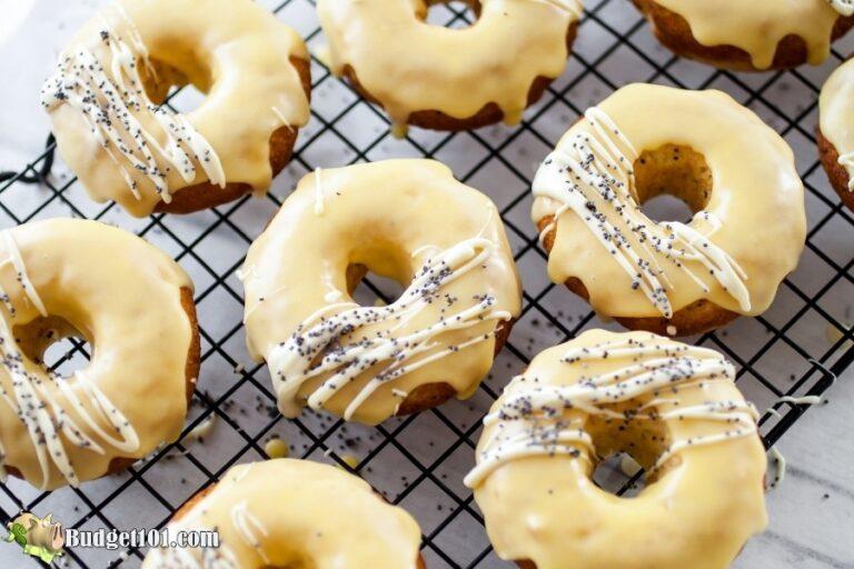 baked lemon donuts glazed