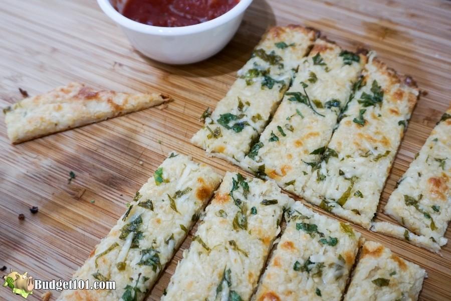 budget101 keto cheesy garlic breadsticks