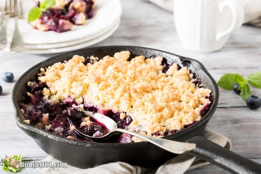 cast iron blueberry cobbler