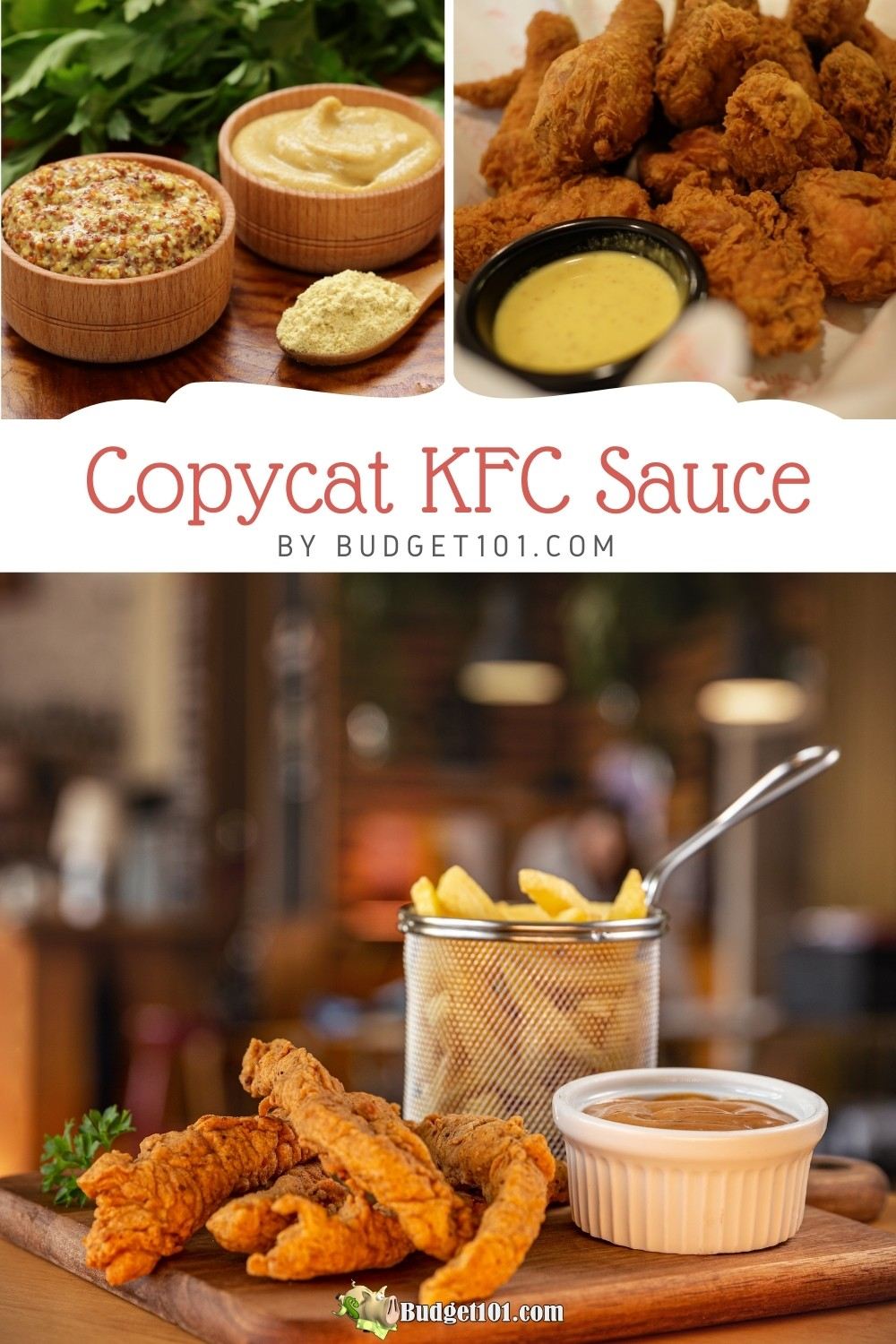 Copycat KFC Sauce- sweet,tangy and just a hint of smokiness, this clone is sure to be a fave in your house too! #KFC #KFCrecipes #Copycat #Clone #KFCsauce #MYO #Budget101