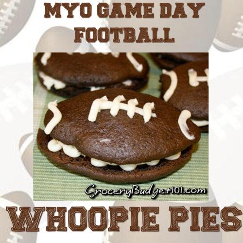 Gameday football whoopie pies