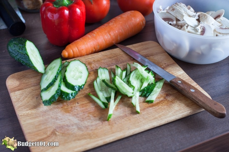 mise en place vegetables
