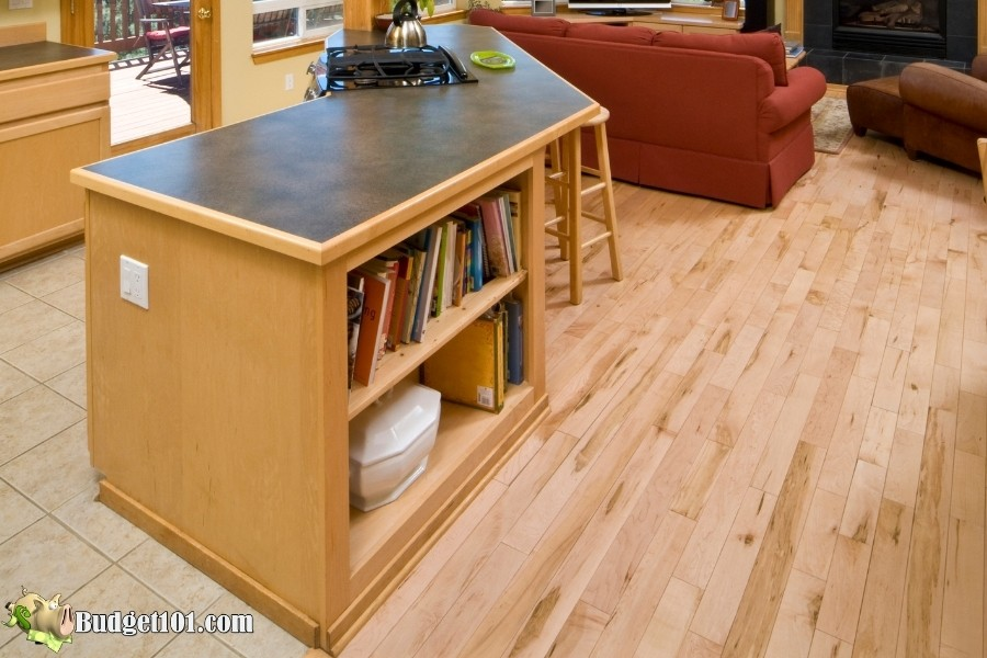 thrifty kitchen space island bookshelves budget101