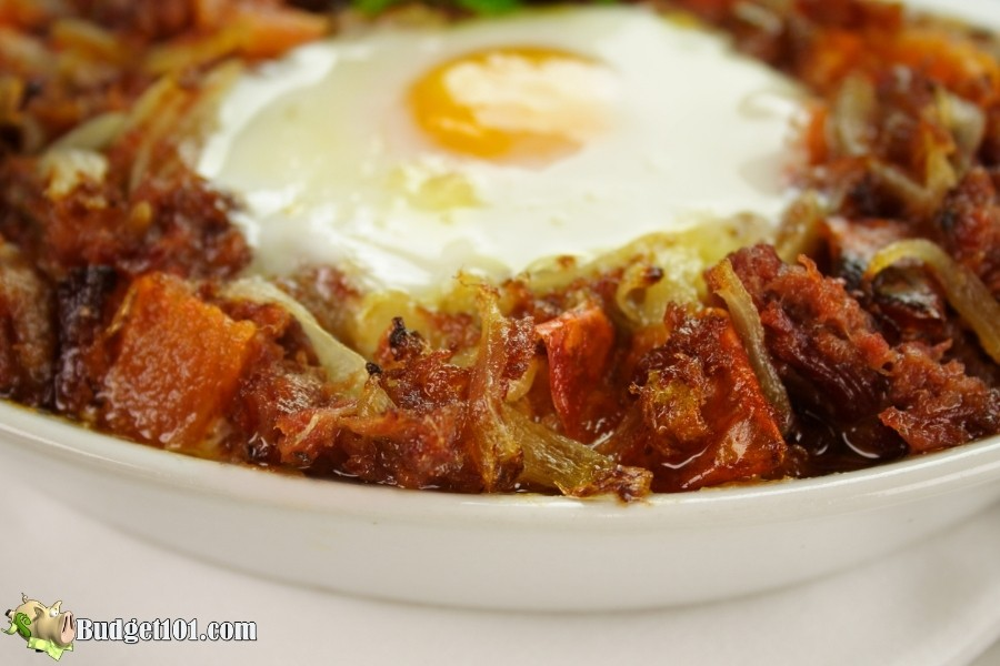caramelized red flannel hash budget101