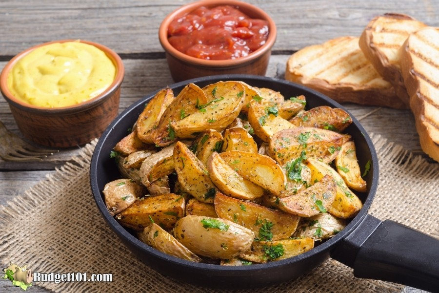 crispy oven fried potatoes