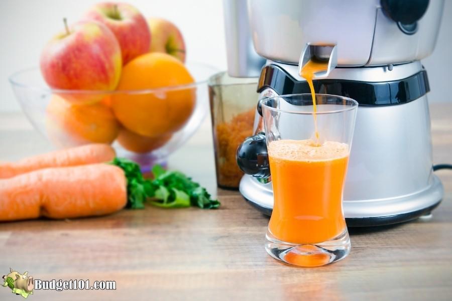 juicing fresh carrots