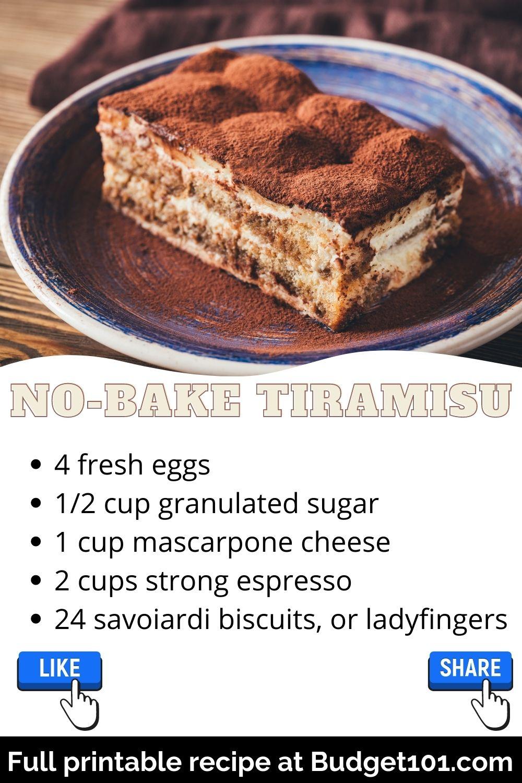 Easy Homemade No-Bake Tiramisu