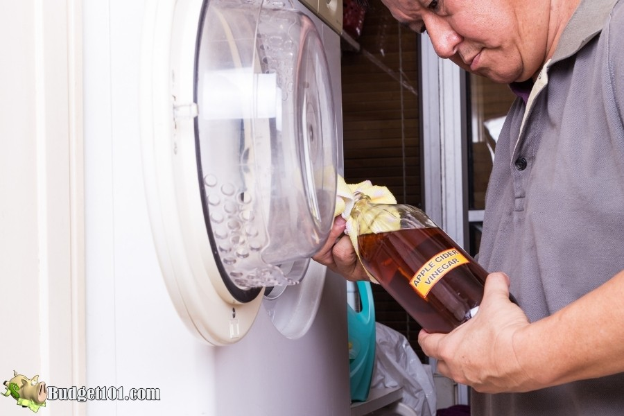 use vinegar clean pet hair from washer