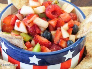 Berrylicious Fruit Salsa with Cinnamon Tortilla Chips
