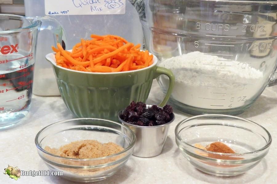 carrot cake pancake ingredients