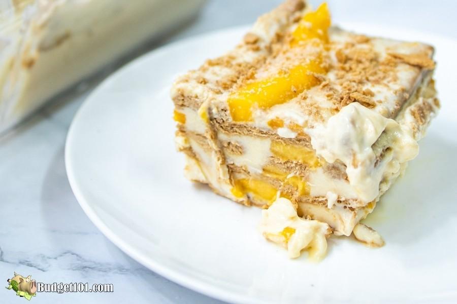 easy no bake mango float cake
