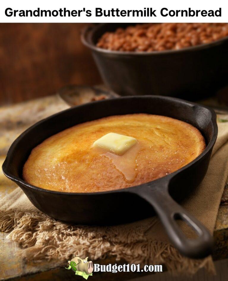 grandmothers buttermilk cornbread budget101