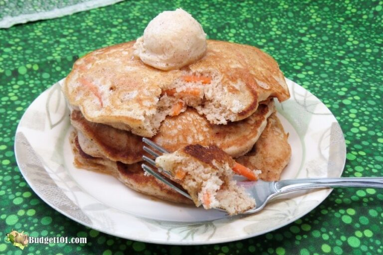 homemade carrot cake pancakes